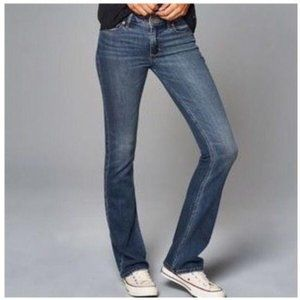 Abercrombie & Fitch Mid Skinny Boot Leg Jeans W30